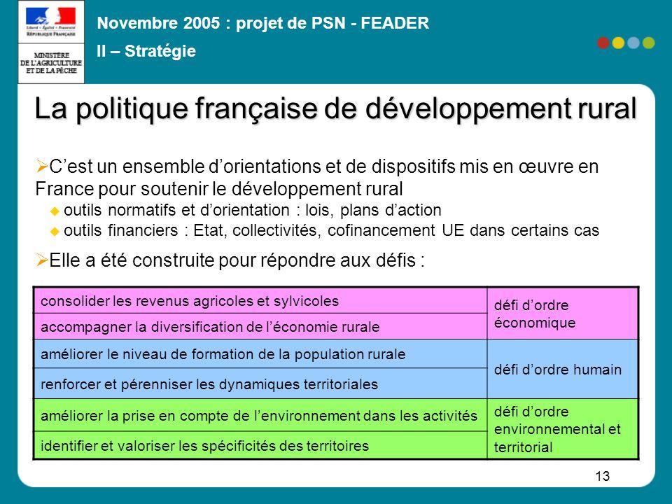 La politique française de développement rural