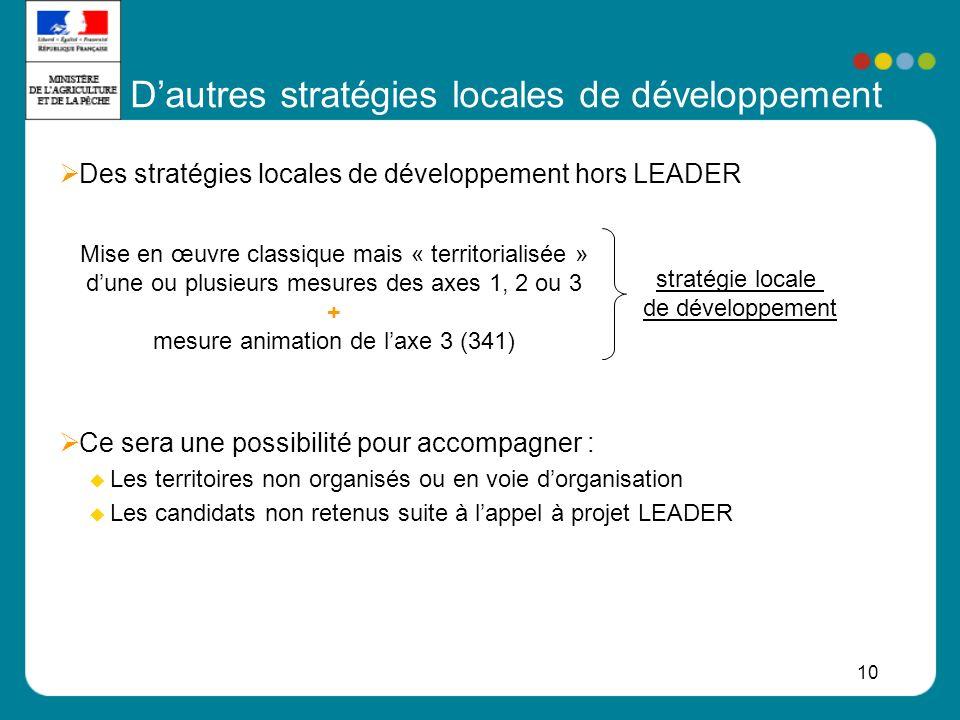 D'autres stratégies locales de développement