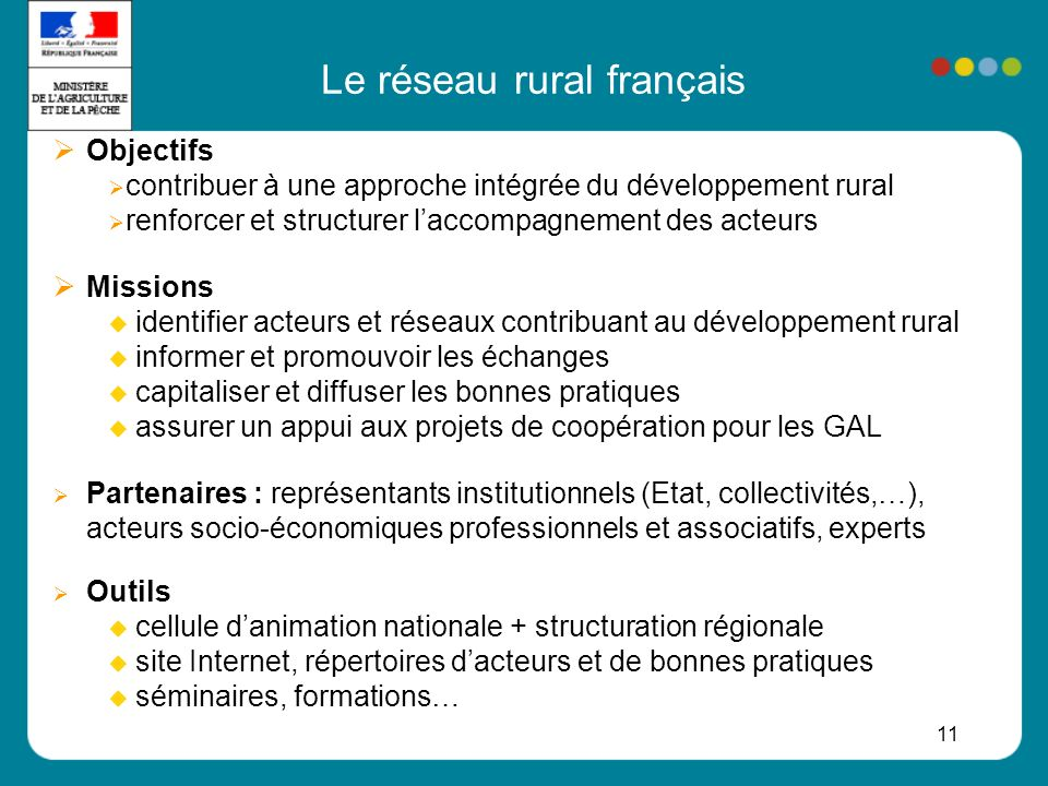 Le réseau rural français