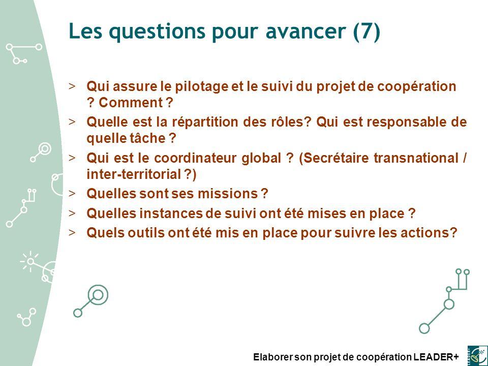 Les questions pour avancer (7)