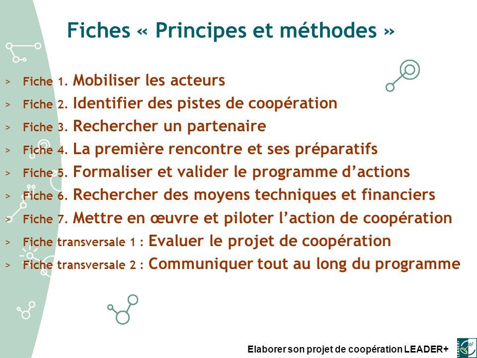 Fiches « Principes et méthodes »