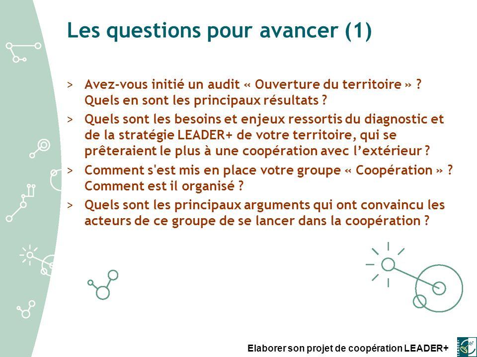Les questions pour avancer (1)