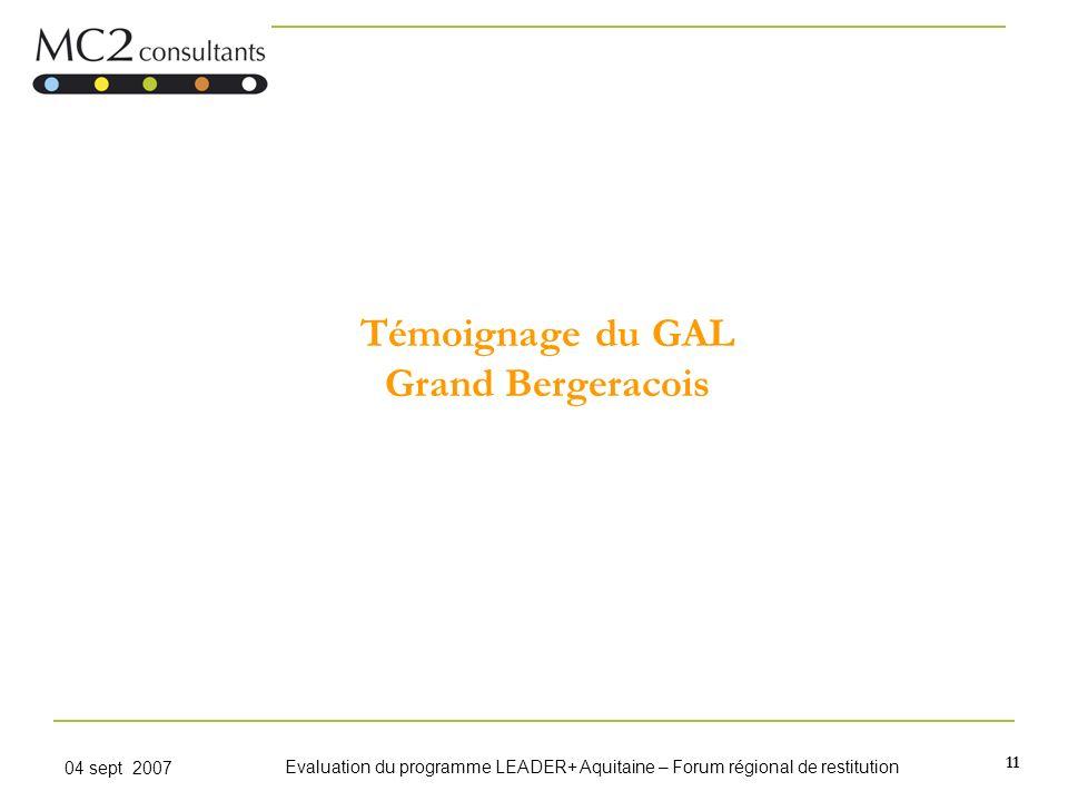 Témoignage du GAL Grand Bergeracois