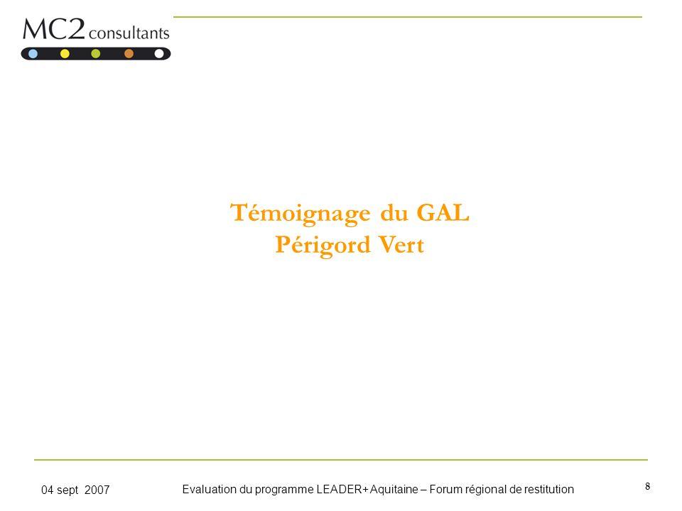 Témoignage du GAL Périgord Vert
