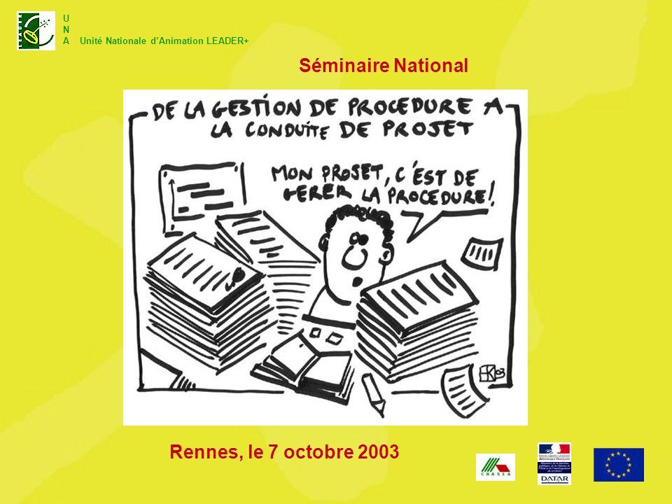 Séminaire National Rennes, le 7 octobre 2003
