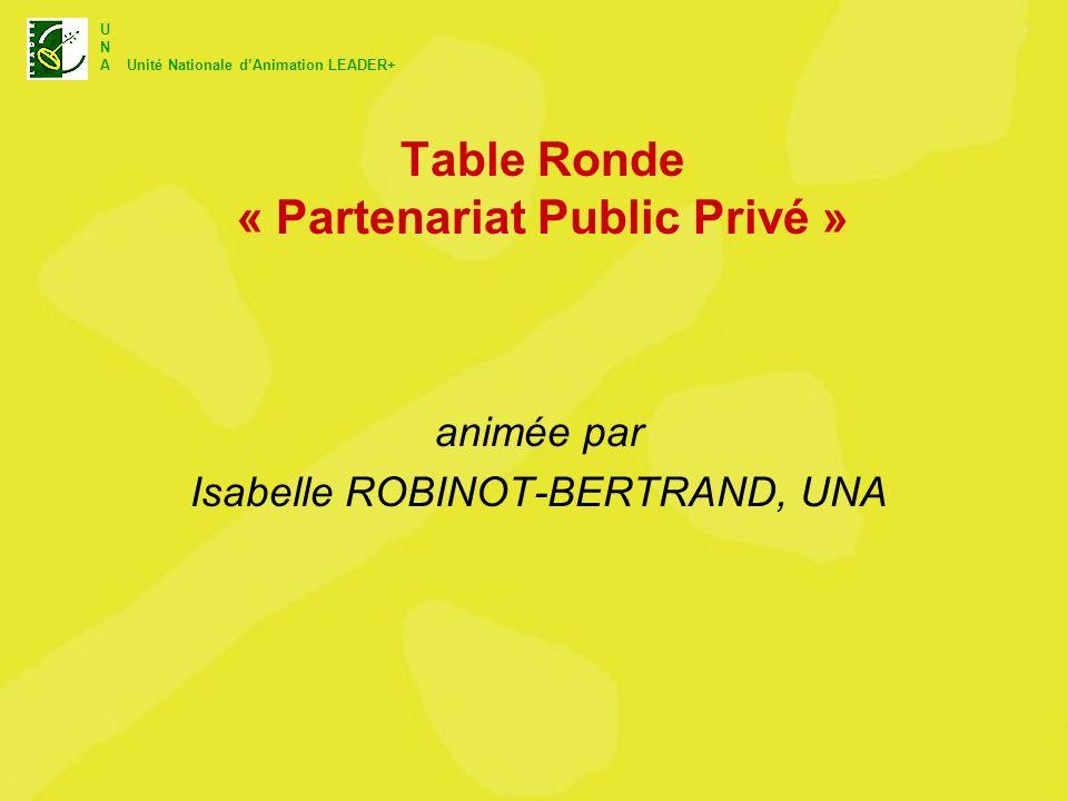 Table Ronde « Partenariat Public Privé »