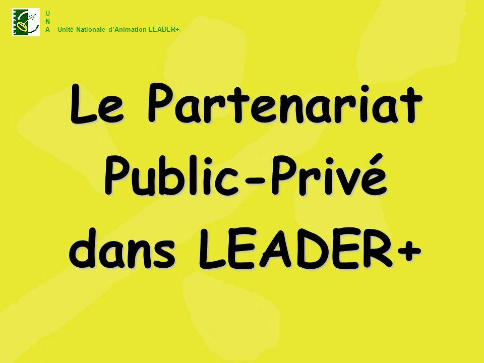 Le Partenariat Public-Privé dans LEADER+