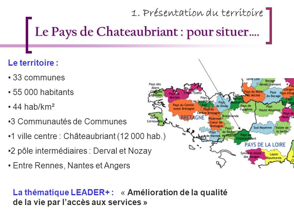 Le Pays de Chateaubriant : pour situer….