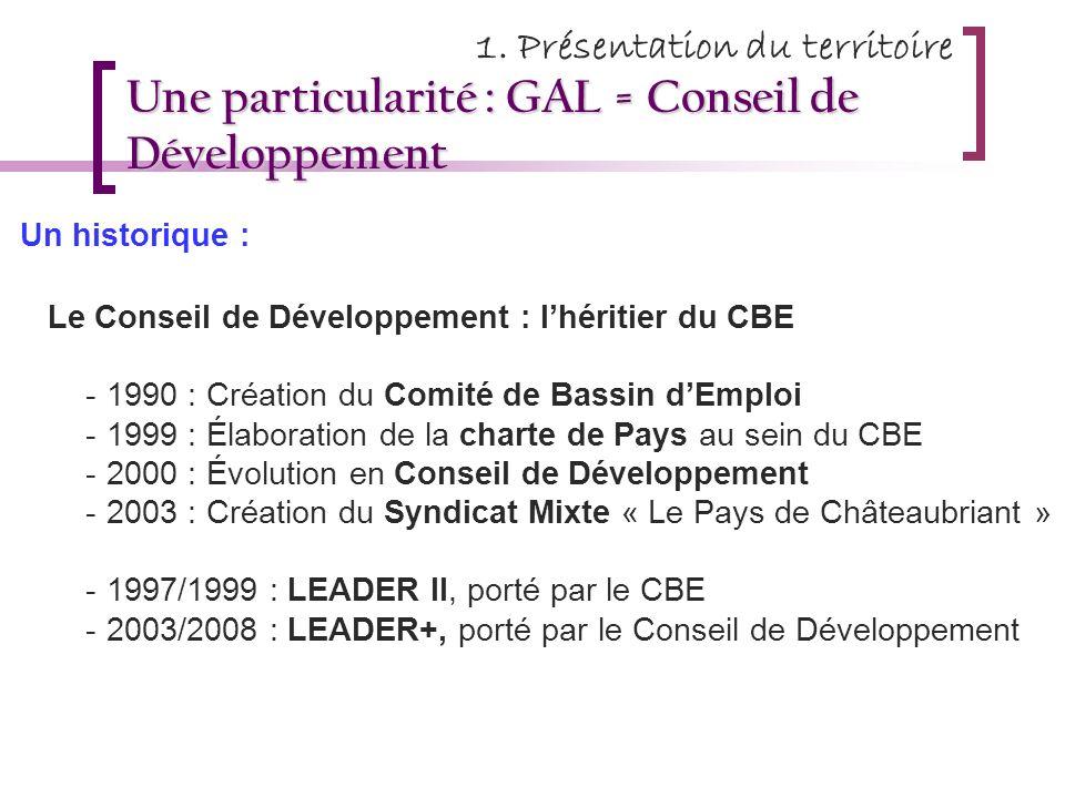 Une particularité : GAL = Conseil de Développement