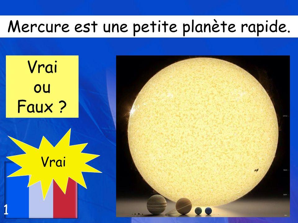 Mercure est une petite planète rapide.