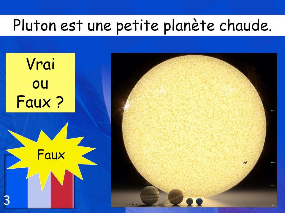 Pluton est une petite planète chaude.