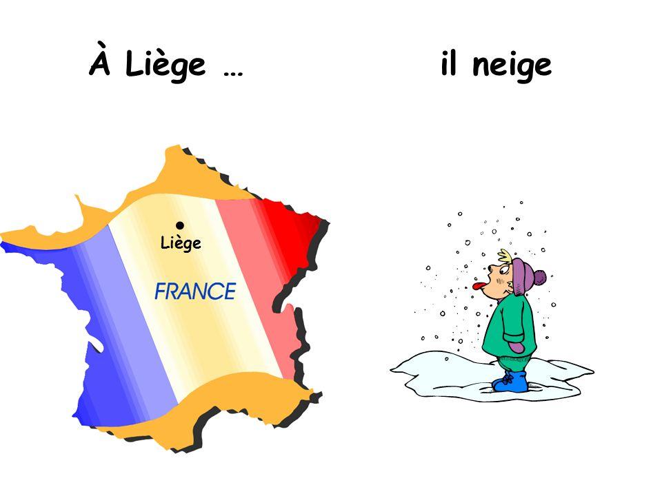 À Liège … il neige Liège