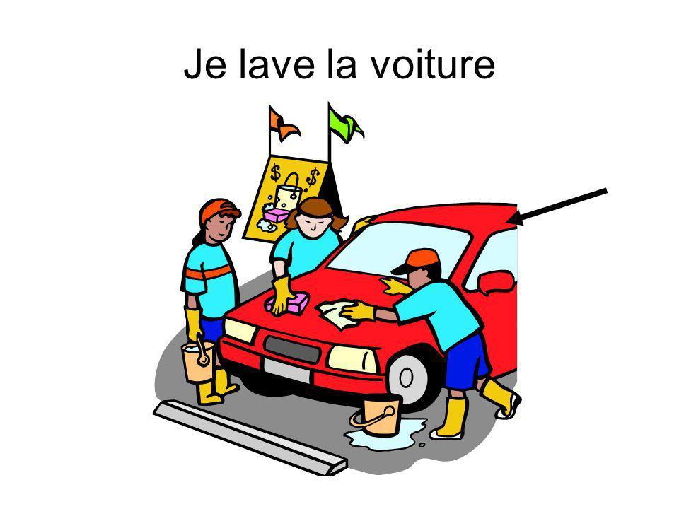 Je lave la voiture