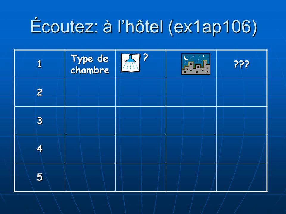 Écoutez: à l'hôtel (ex1ap106)
