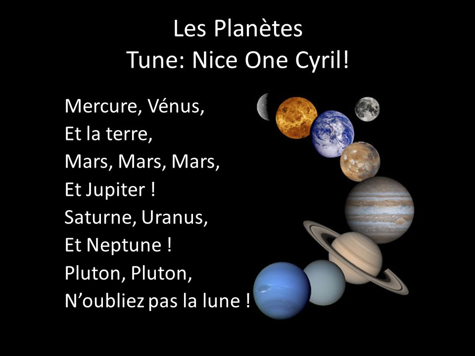 Les Planètes Tune: Nice One Cyril!