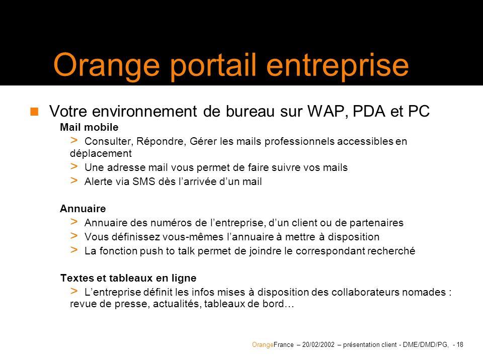 Orange portail entreprise