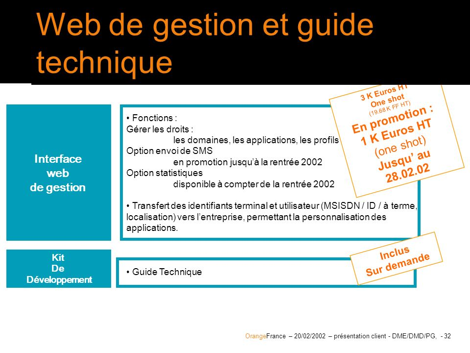 Interface web de gestion