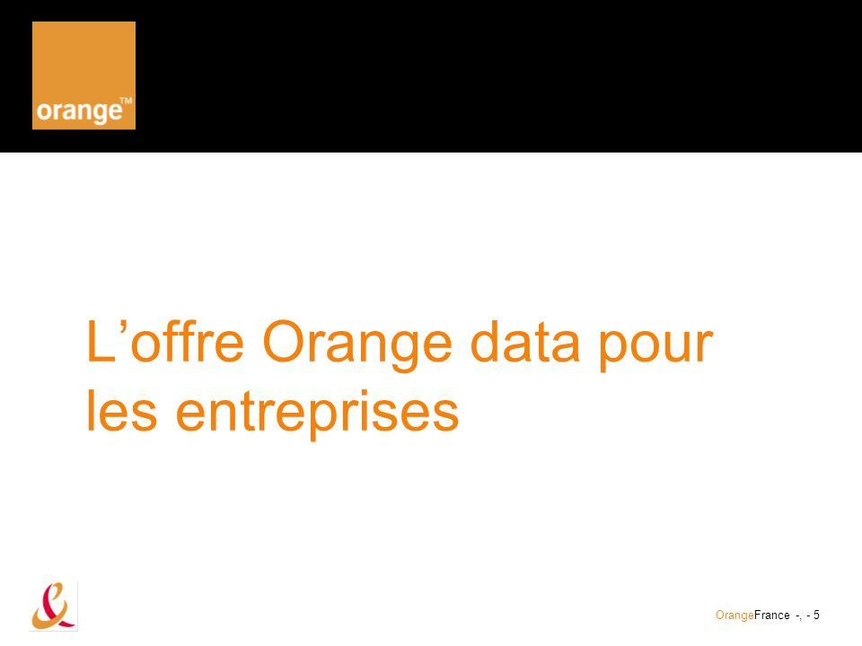 L'offre Orange data pour les entreprises