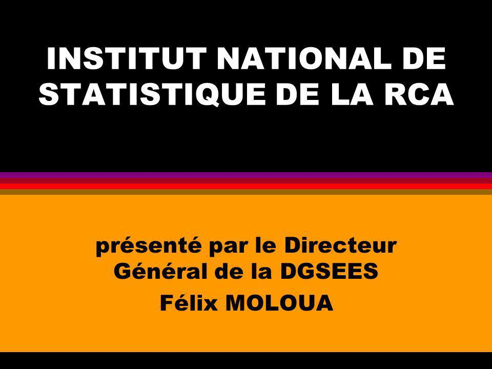 INSTITUT NATIONAL DE STATISTIQUE DE LA RCA