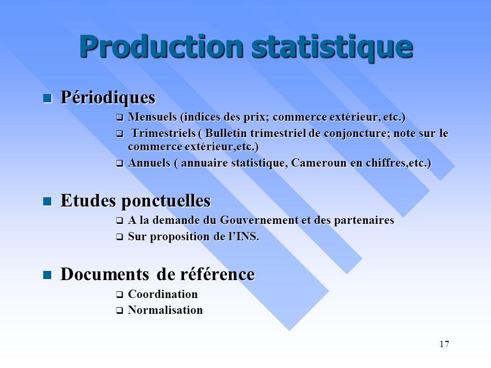 Production statistique