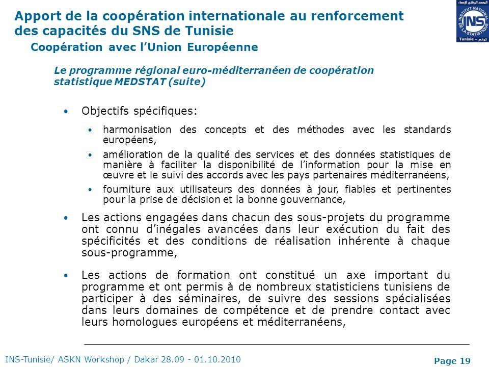 Coopération avec l'Union Européenne