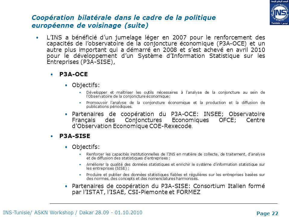 Coopération bilatérale dans le cadre de la politique européenne de voisinage (suite)
