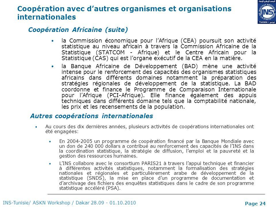 Coopération avec d'autres organismes et organisations internationales