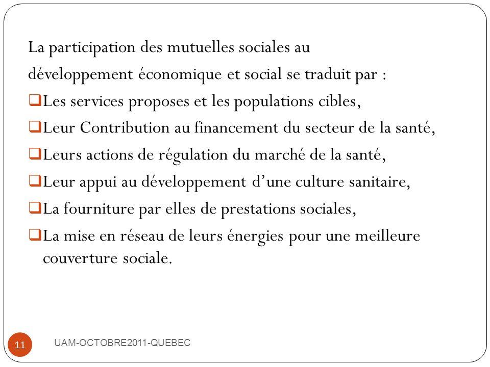 La participation des mutuelles sociales au