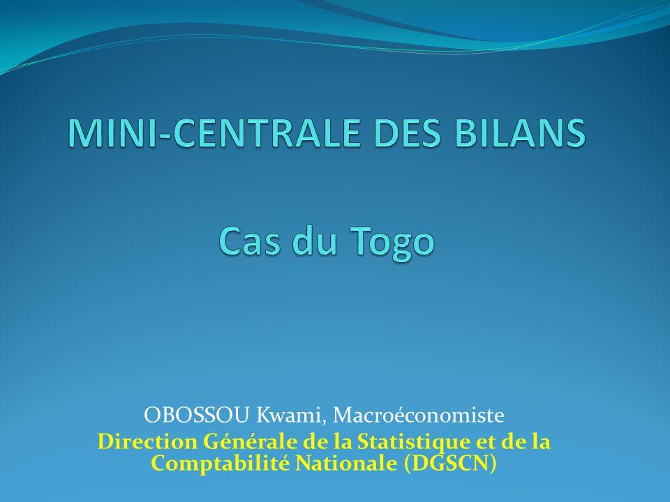 MINI-CENTRALE DES BILANS Cas du Togo