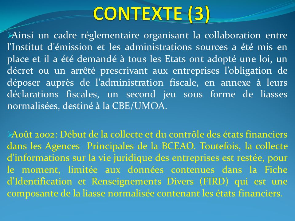 CONTEXTE (3)