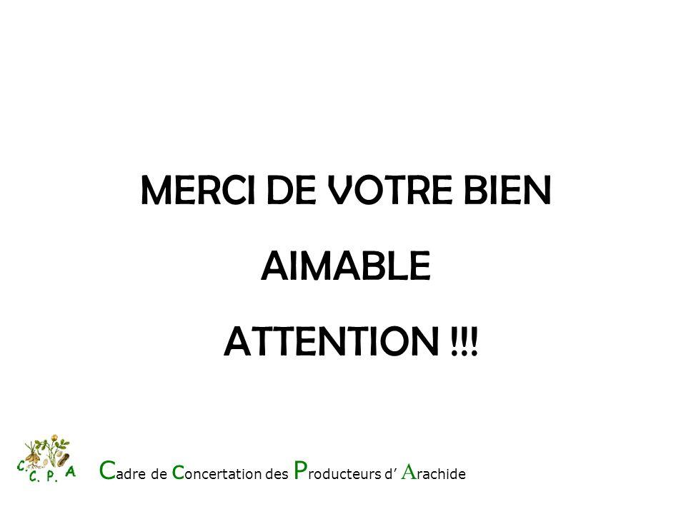 MERCI DE VOTRE BIEN AIMABLE ATTENTION !!!
