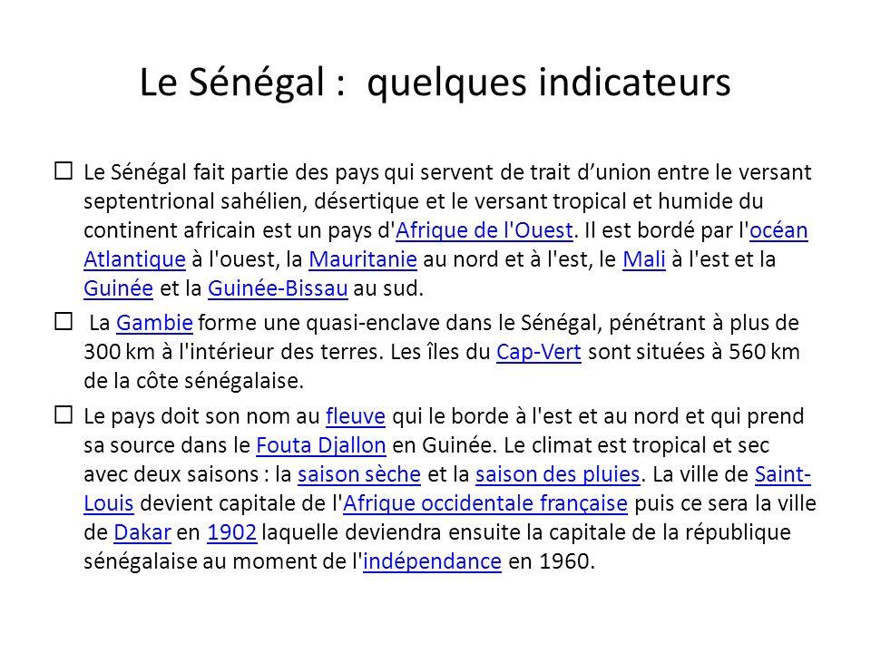 Le Sénégal : quelques indicateurs