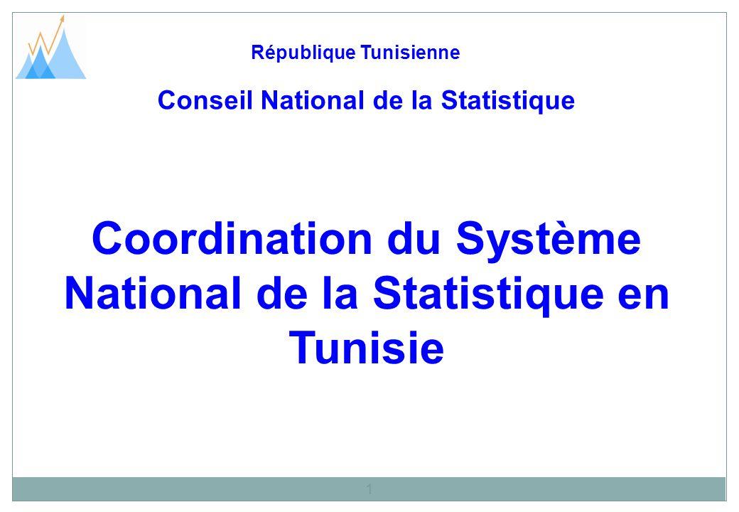Coordination du Système National de la Statistique en Tunisie