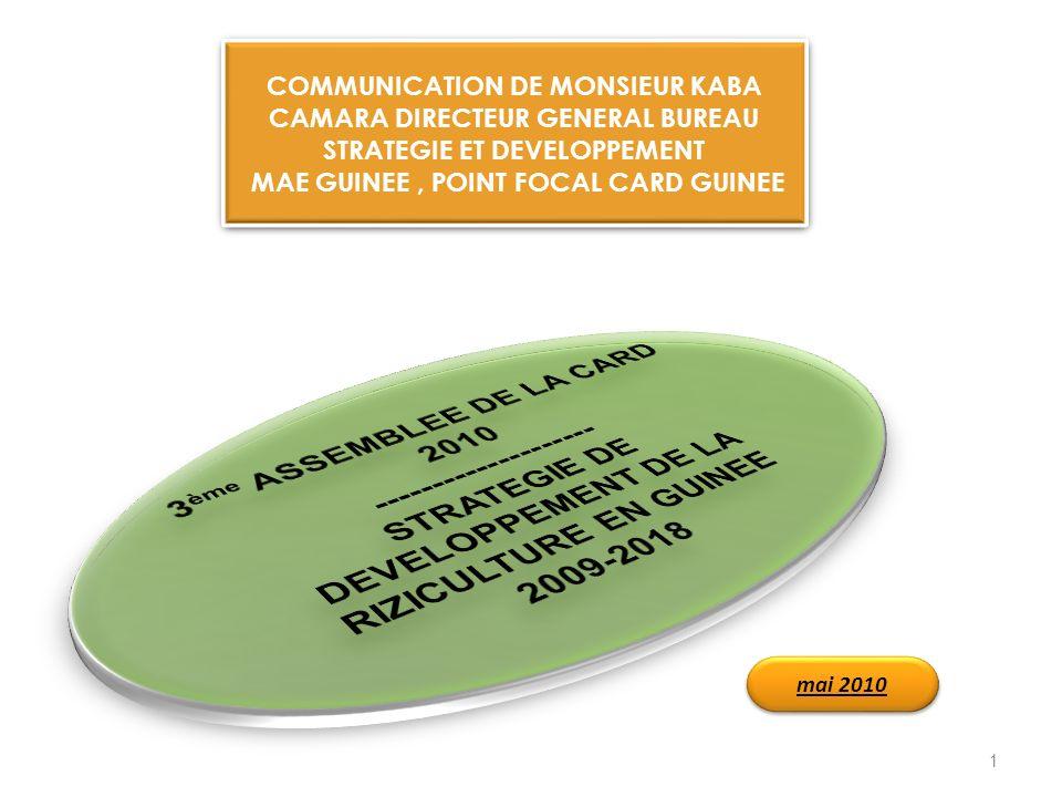 3ème ASSEMBLEE DE LA CARD 2010 --------------------