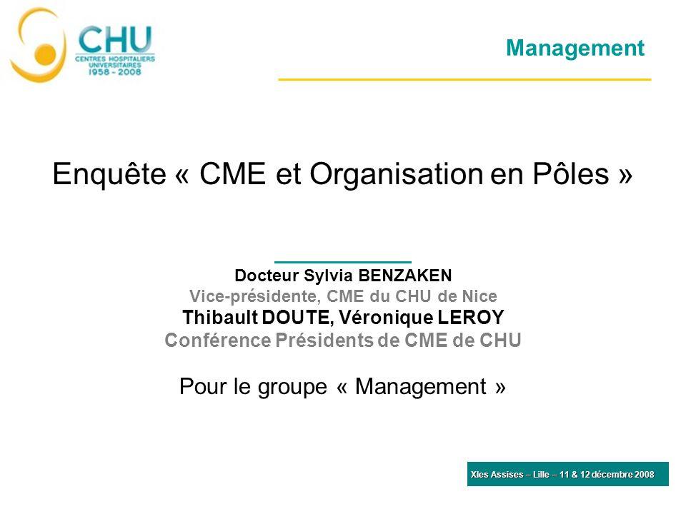 Enquête « CME et Organisation en Pôles »