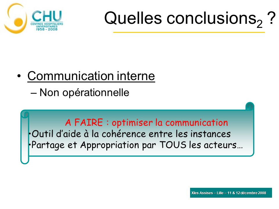 A FAIRE : optimiser la communication