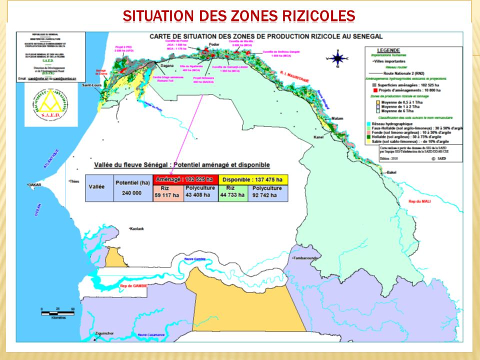 SITUATION DES ZONES RIZICOLES