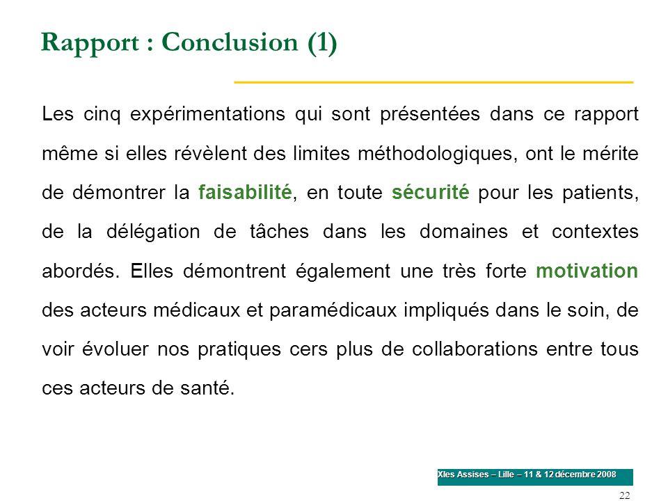 Rapport : Conclusion (1)