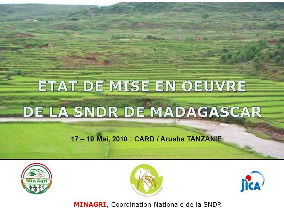 DE LA SNDR DE MADAGASCAR 17 – 19 Mai, 2010 : CARD / Arusha TANZANIE