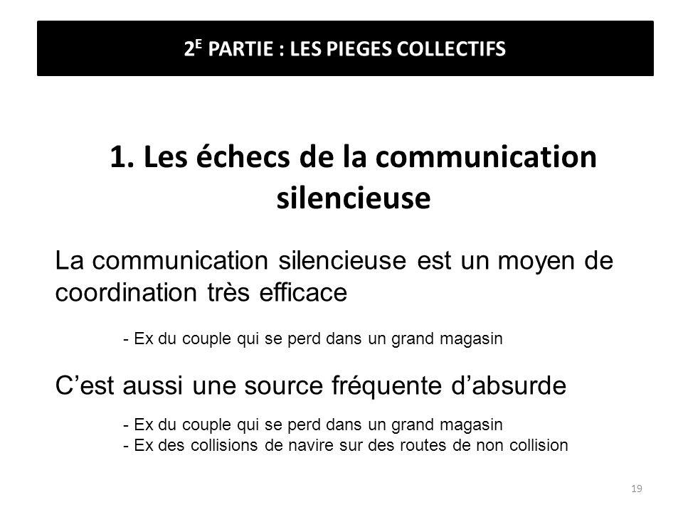 1. Les échecs de la communication silencieuse