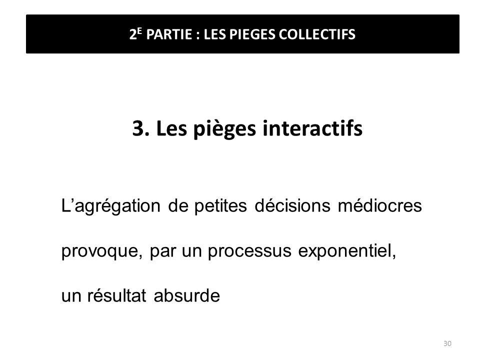 3. Les pièges interactifs