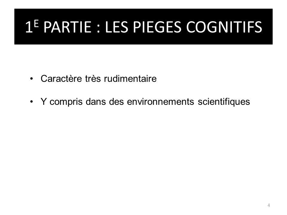 1E PARTIE : LES PIEGES COGNITIFS