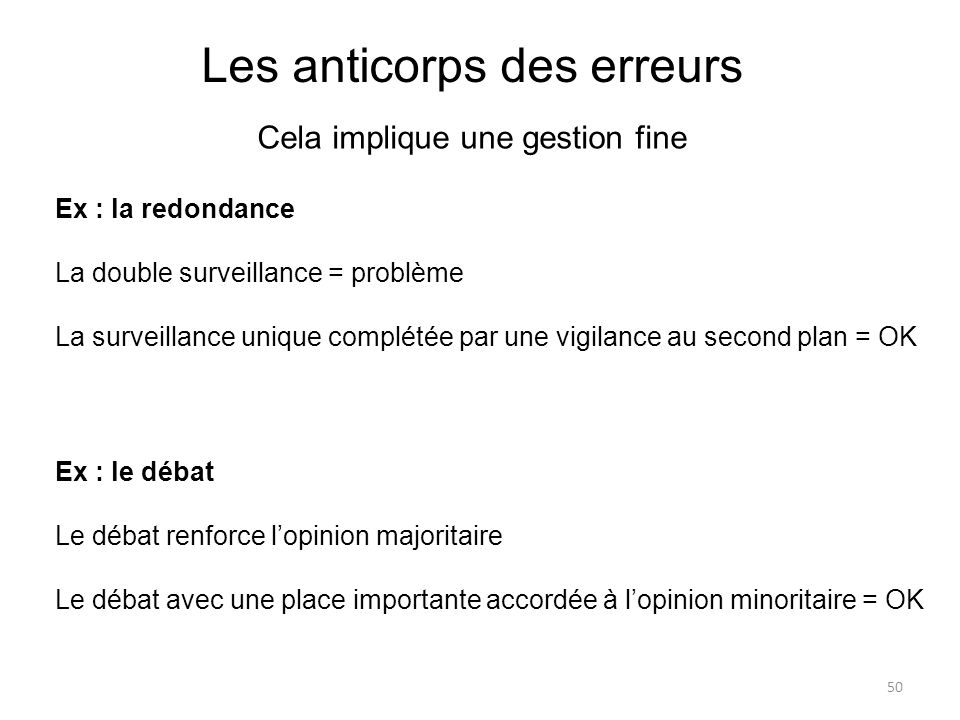 Les anticorps des erreurs