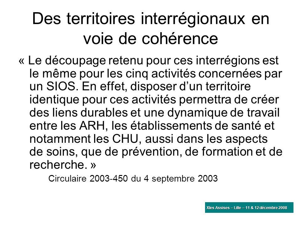Des territoires interrégionaux en voie de cohérence