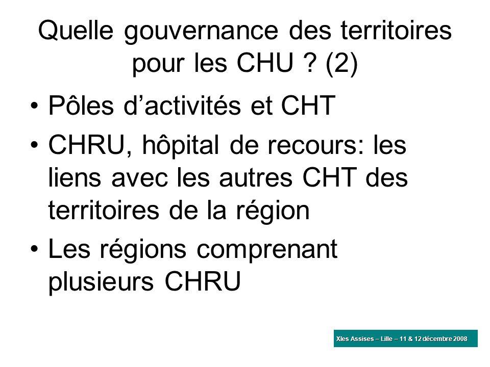 Quelle gouvernance des territoires pour les CHU (2)