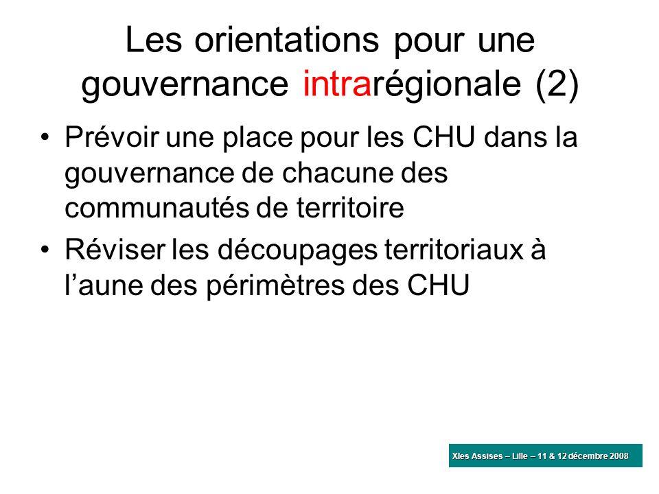 Les orientations pour une gouvernance intrarégionale (2)