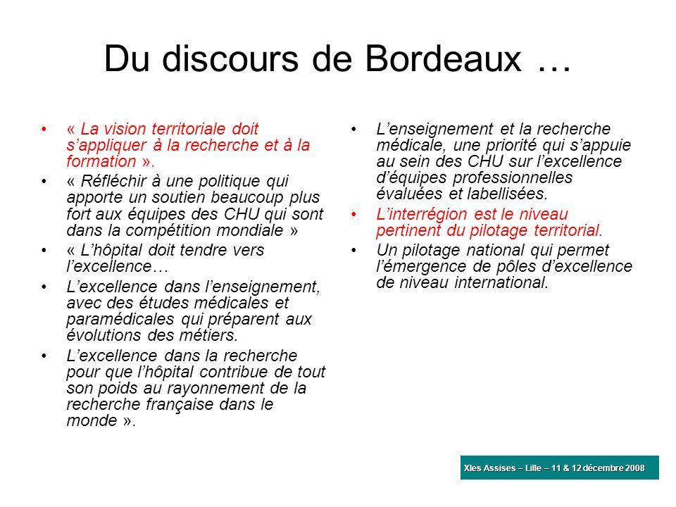 Du discours de Bordeaux …