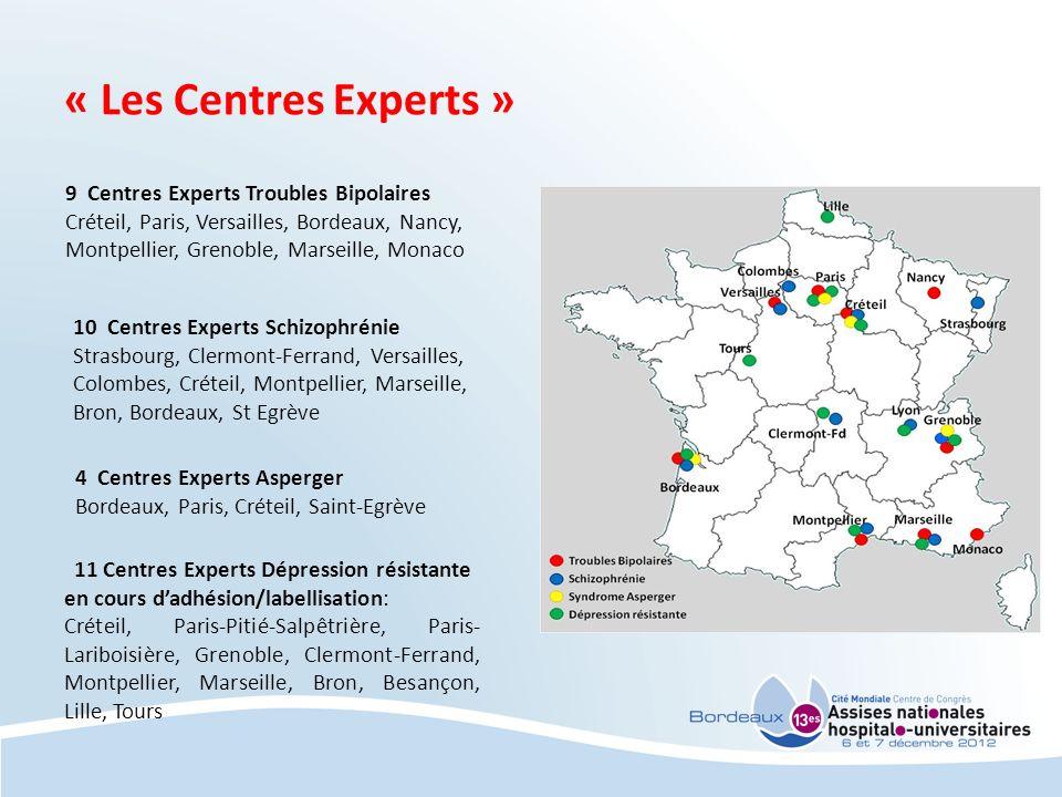 « Les Centres Experts » 9 Centres Experts Troubles Bipolaires