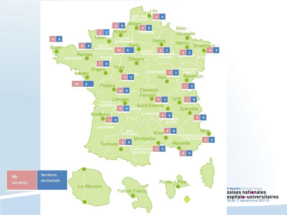 Services sectorisés Nb services 3 2 2 8 23 8 2 1 4 1 2 1 5 10 2 3 1 4