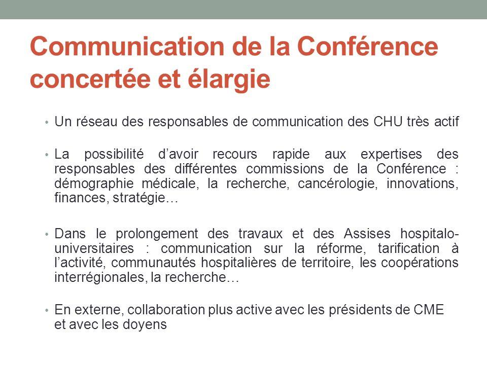 Communication de la Conférence concertée et élargie